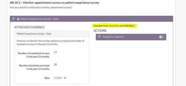 screenshot of Ar-AC1: Monitor Appointment access on patient experience survey page